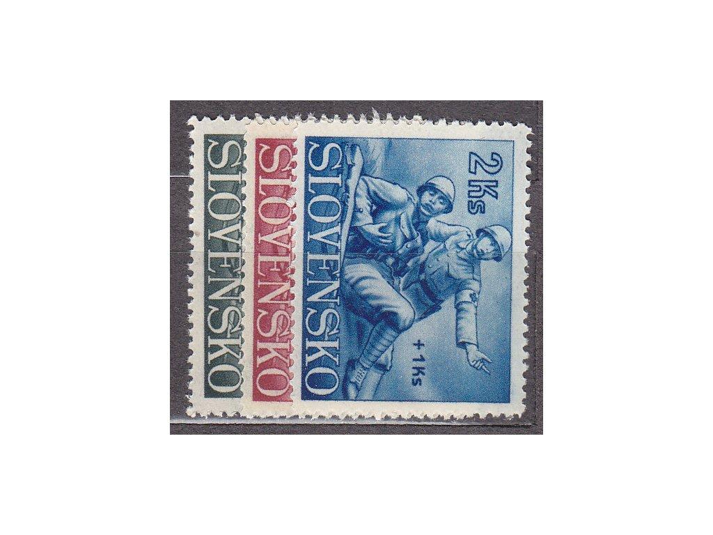 1941, 50h-2Ks červený kříž, série, Nr.59-61, **, ilustrační foto