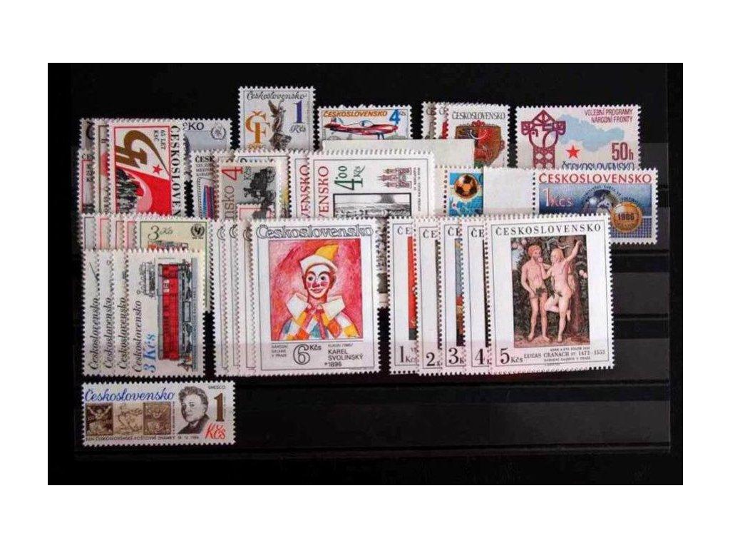 1986, kompletní ročník výplatních známek, ** , ilustrační foto