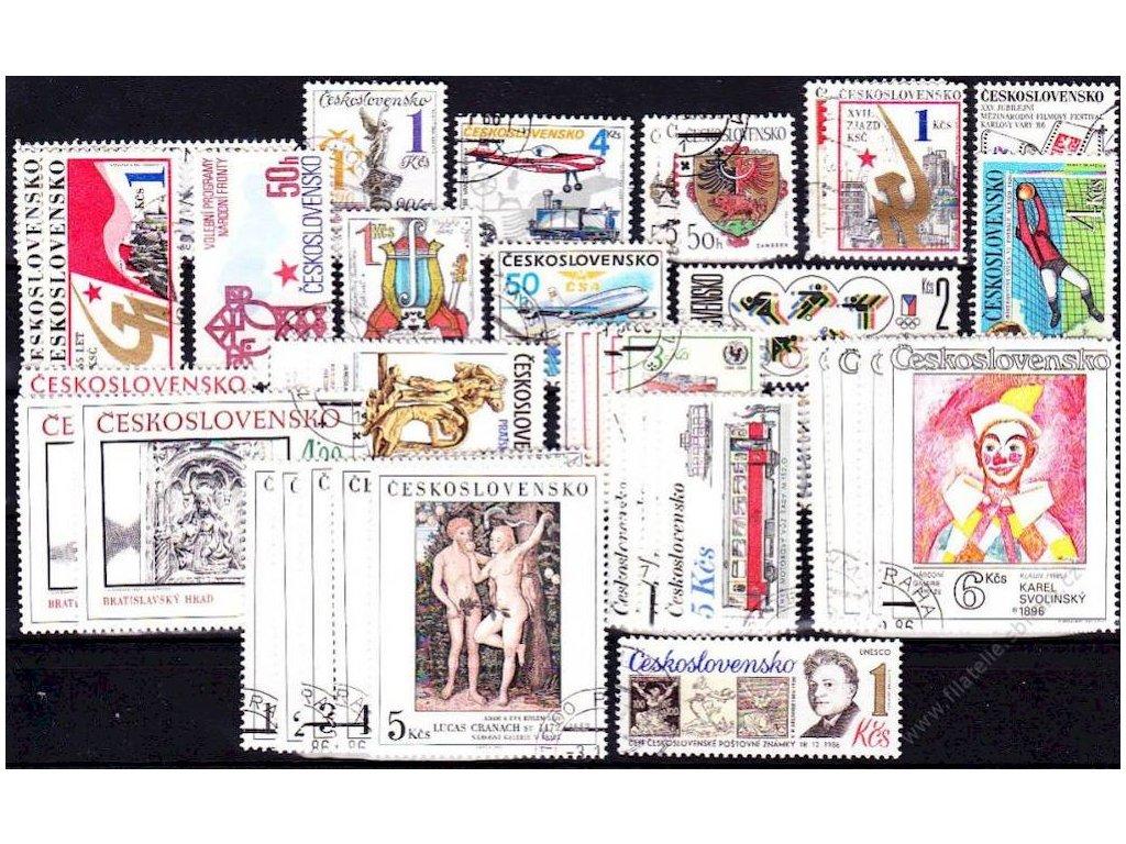 1986, kompletní ročník výplatních známek, razítkované, ilustrační foto
