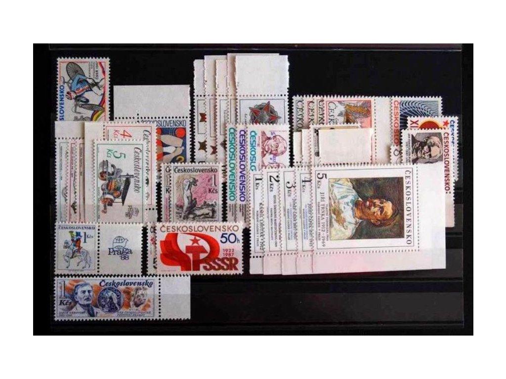 1987, kompletní ročník výplatních známek, ** , ilustrační foto