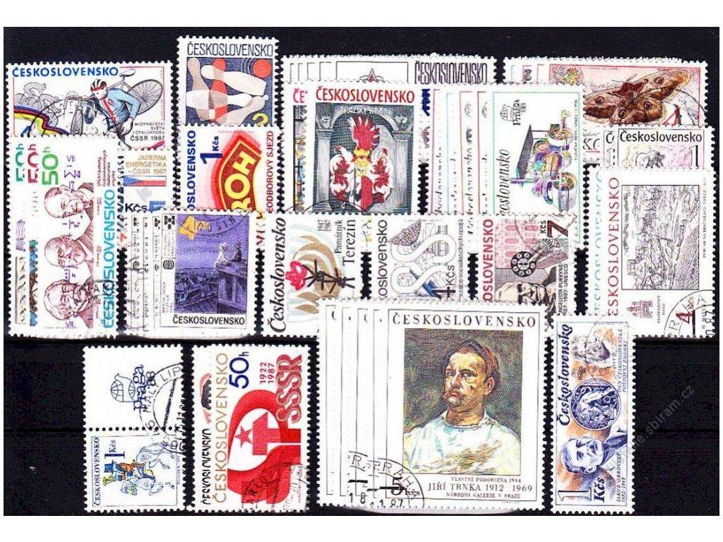 1987, kompletní ročník výplatních známek, razítkované, ilustrační foto