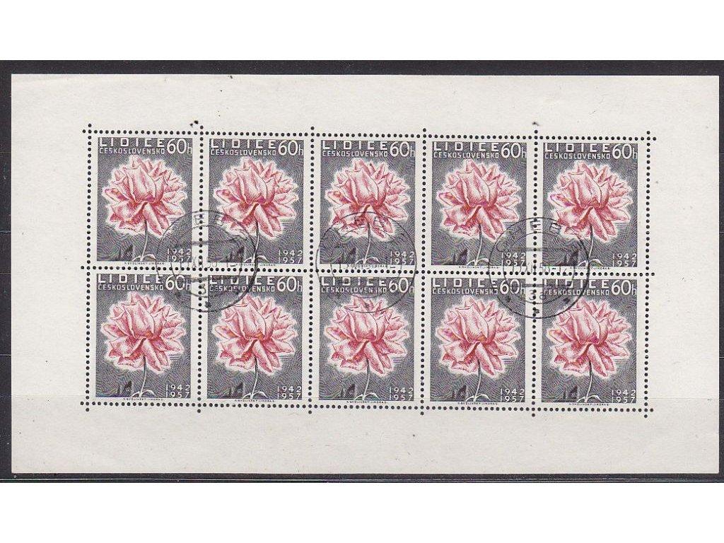 1957, 60h Lidice, PL, denní razítko CHEB 13.12.58, Nr.PL951