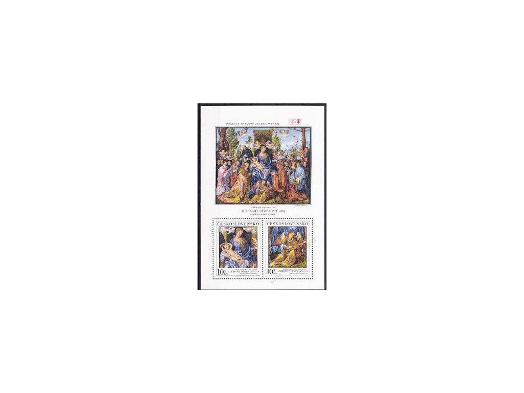 1989, 10Kčs aršík Dürer, VZOR, Nr.A2892-3, **