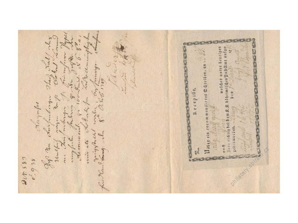 2 ks recepisů z roku 1789