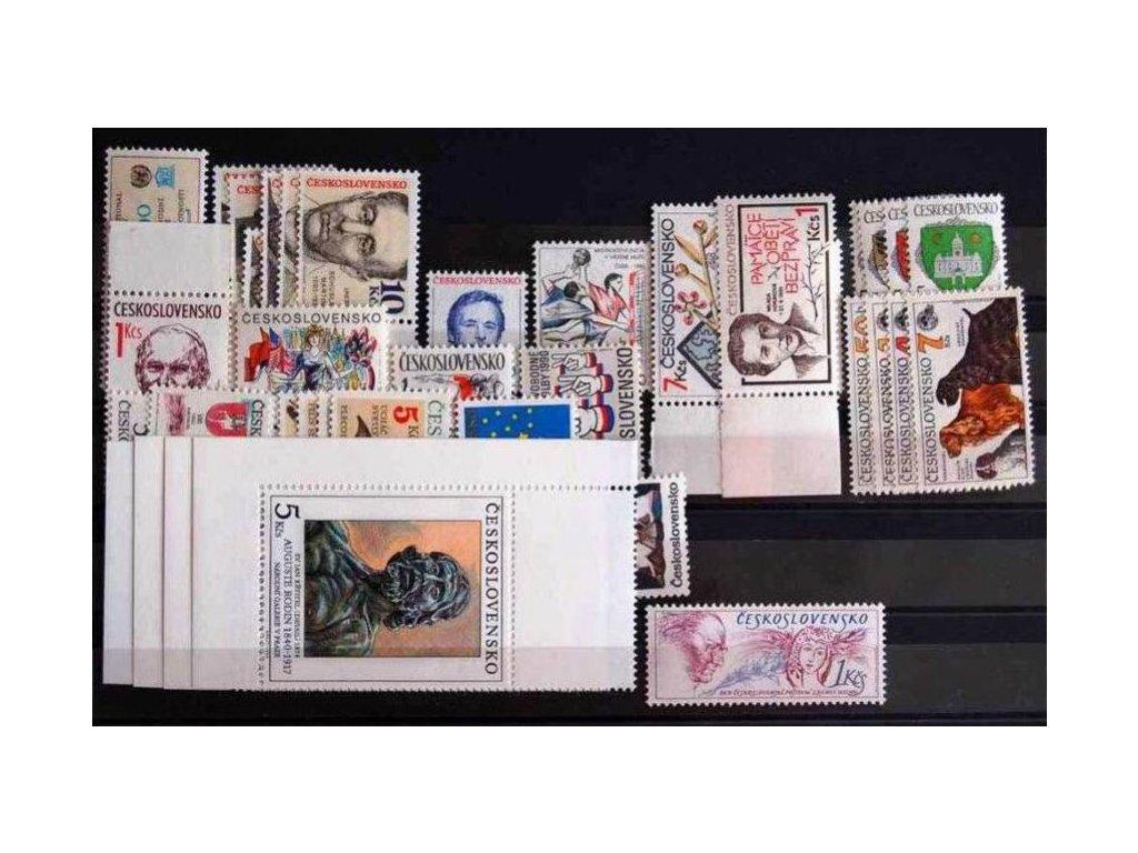 1990, kompletní ročník výplatních známek, ** , ilustrační foto
