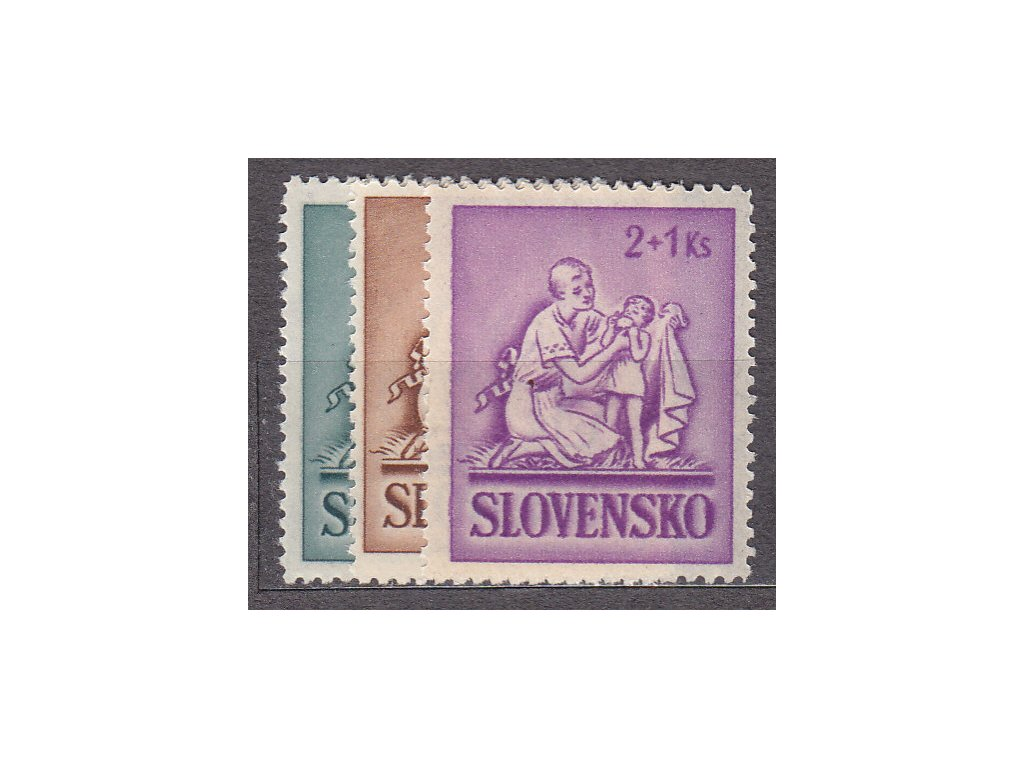 1941, 50h-2Ks Dětem, série, Nr.62-4, **, ilustrační foto
