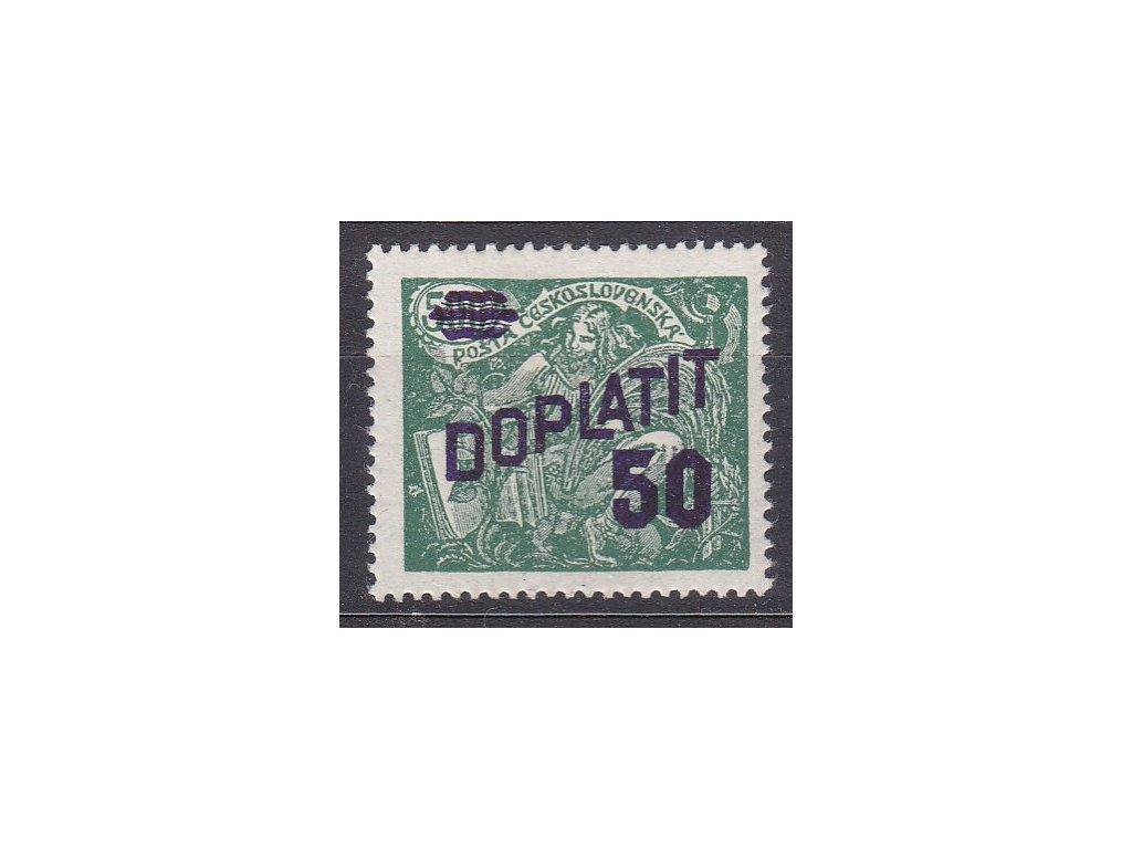 1926, 50/500h zelená, Nr.DL45B, * po nálepce, ilustrační foto