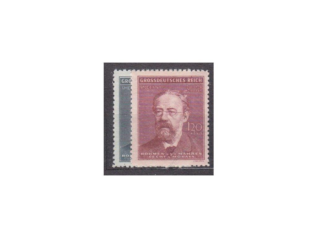 1944, 60h-1.20K Smetana, série, Nr.118-19, **