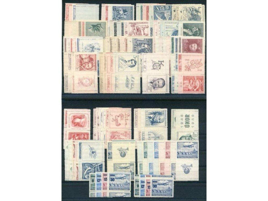 Československo 1945-49, kompletní kupony, **