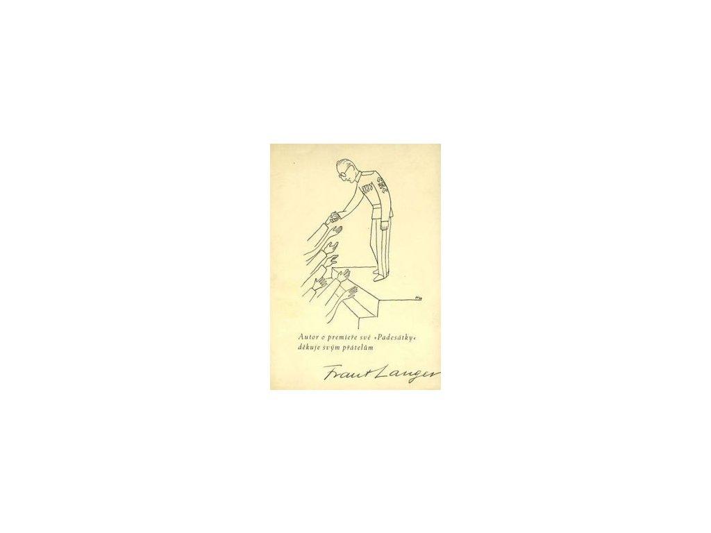 Langer, děkovný lístek, karta, pohl. formát