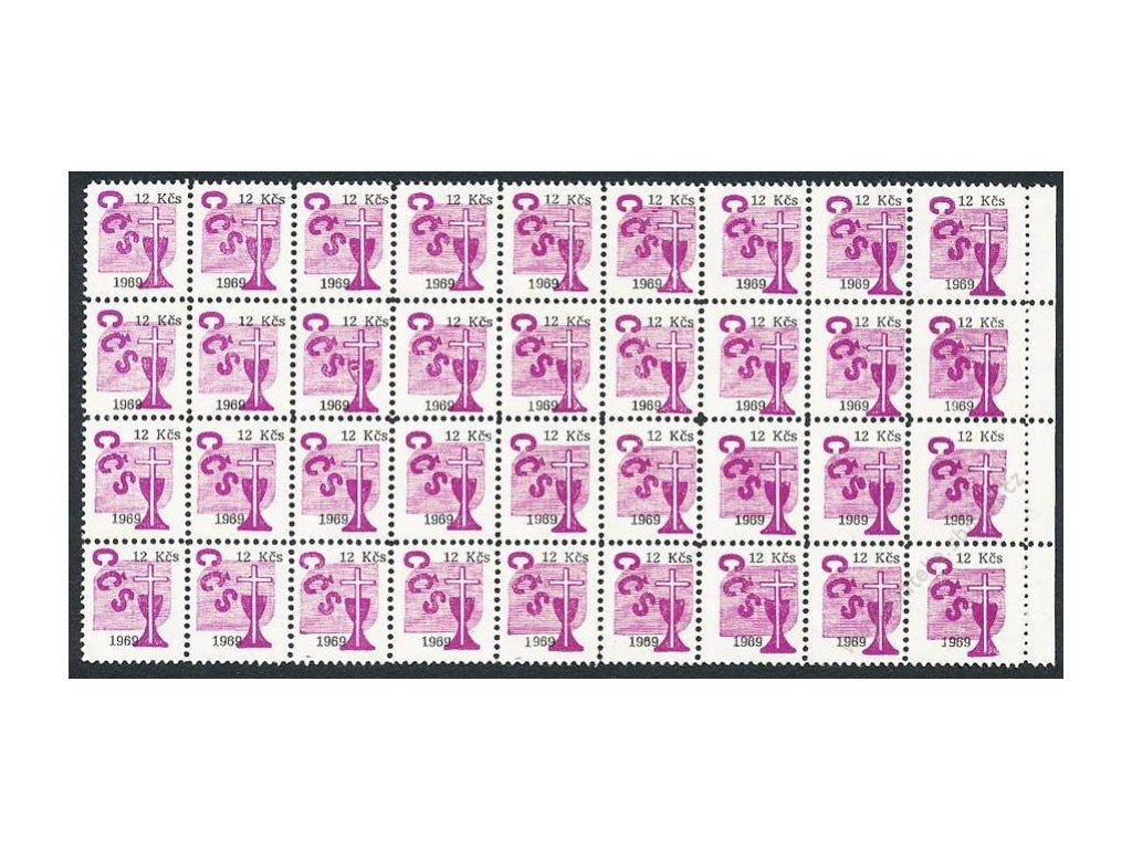 Církevní známky, 1969, 12Kčs, 36blok, **