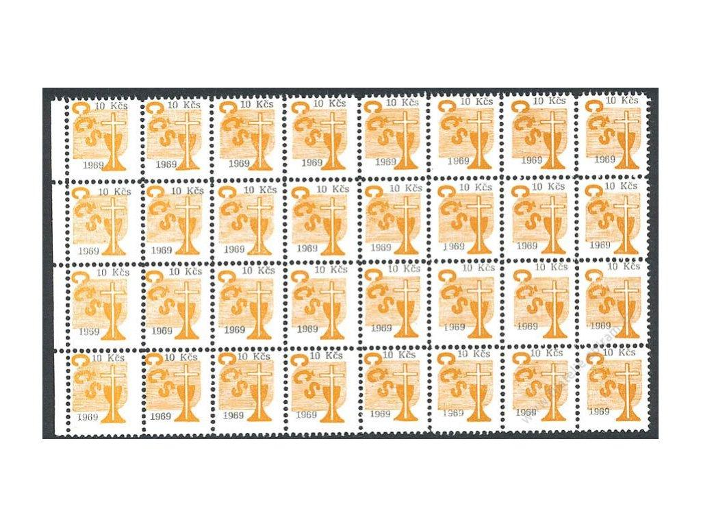 Církevní známky, 1969, 10Kčs, 32blok, **