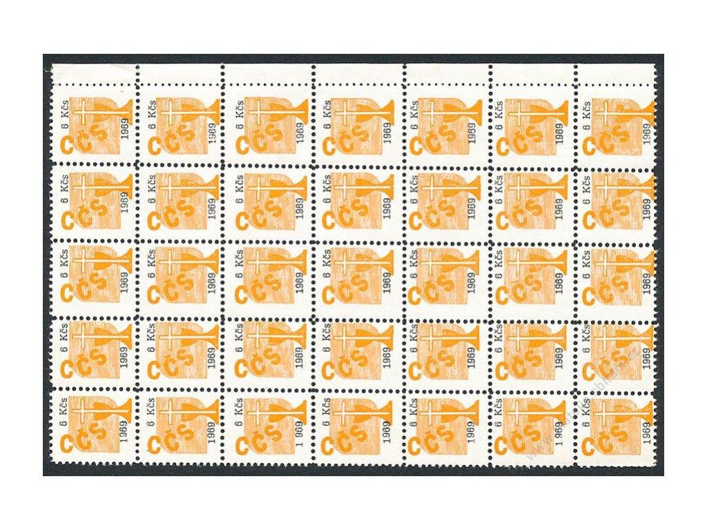 Církevní známky, 1969, 6Kčs, 35blok, **