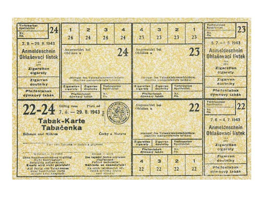 Tabak-Karte z roku 1943
