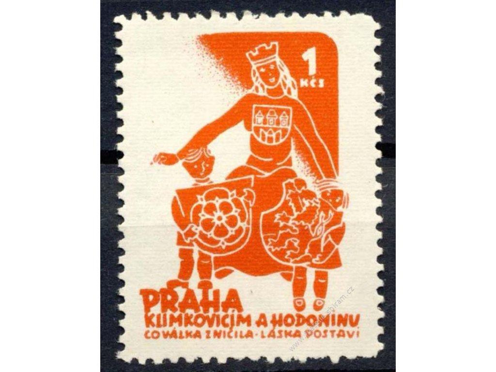1Kčs Praha Klimkovicím a Hodonínu, **