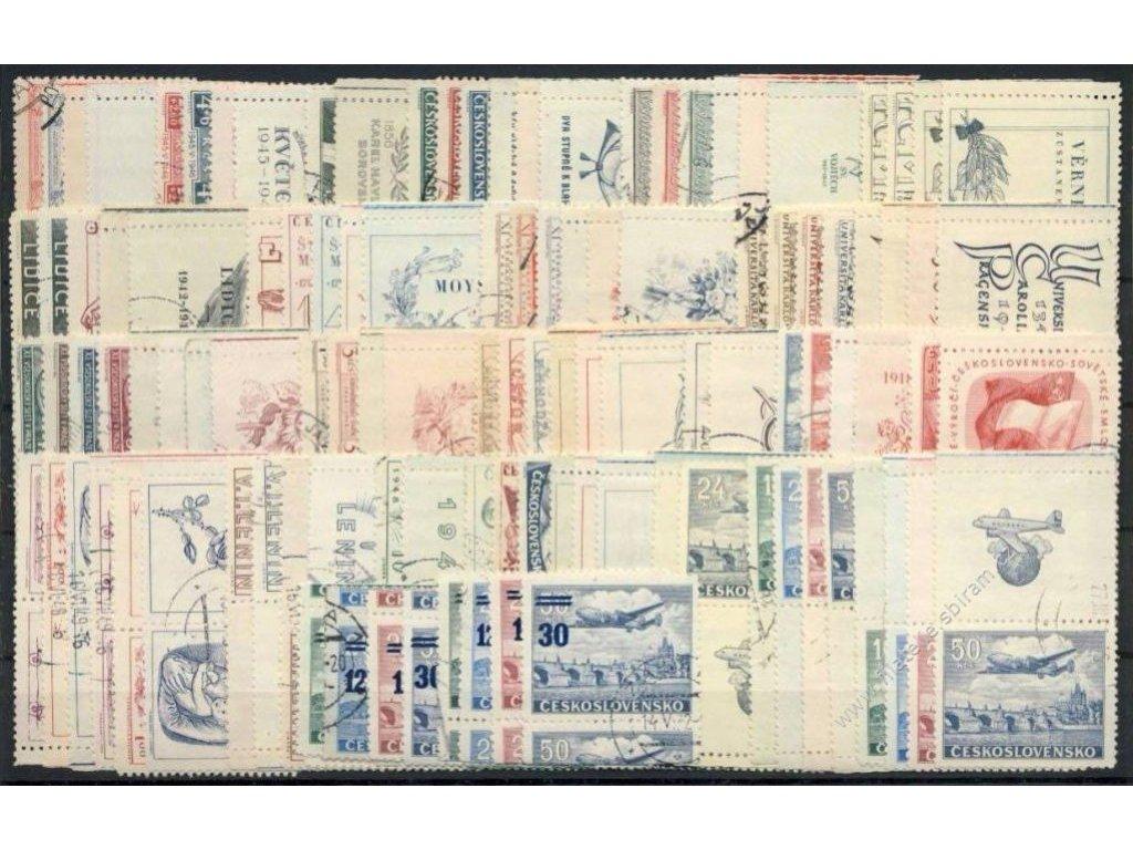 ČSR II, kompletní kupony staré měny, L+P, razítk.