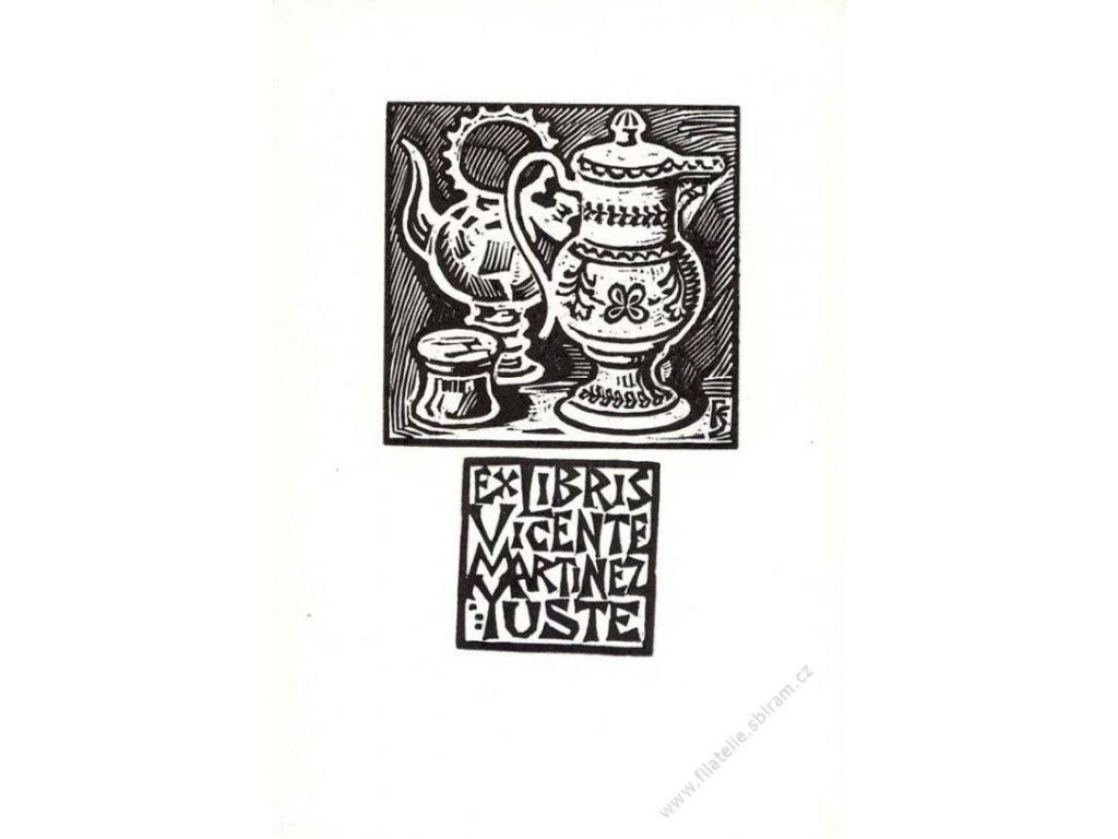 Martinez, Ex Libris, pohlednicový formát