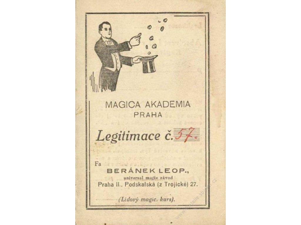 Magica Akademia Praha, průkazka z roku 1936