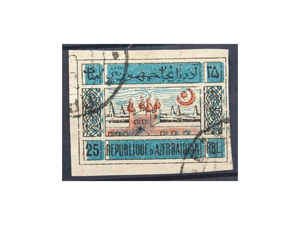 Aserbajdžán, 1919, 25R Chrám, razítkované