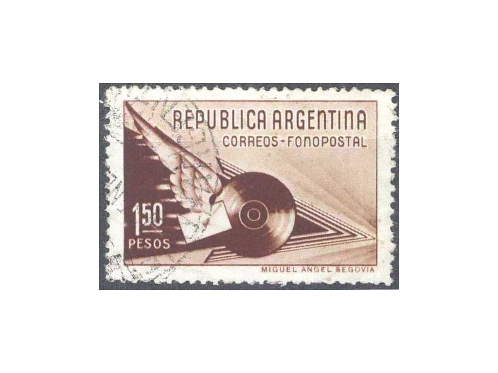 Argentina, 1939, 1.50P hnědá, razítkovaná