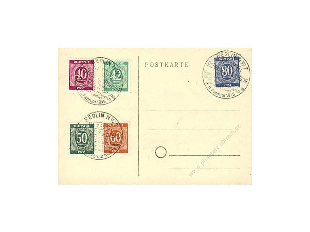 Společné vydání, pamětní karta vyfr. sérií zn. MiNr.911-37, DR Berlin 11.2.1946, neprošlé