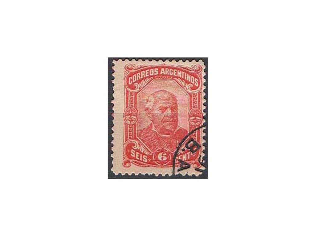 Argentina, 1888, 6C červenooranžová, razítkovaná