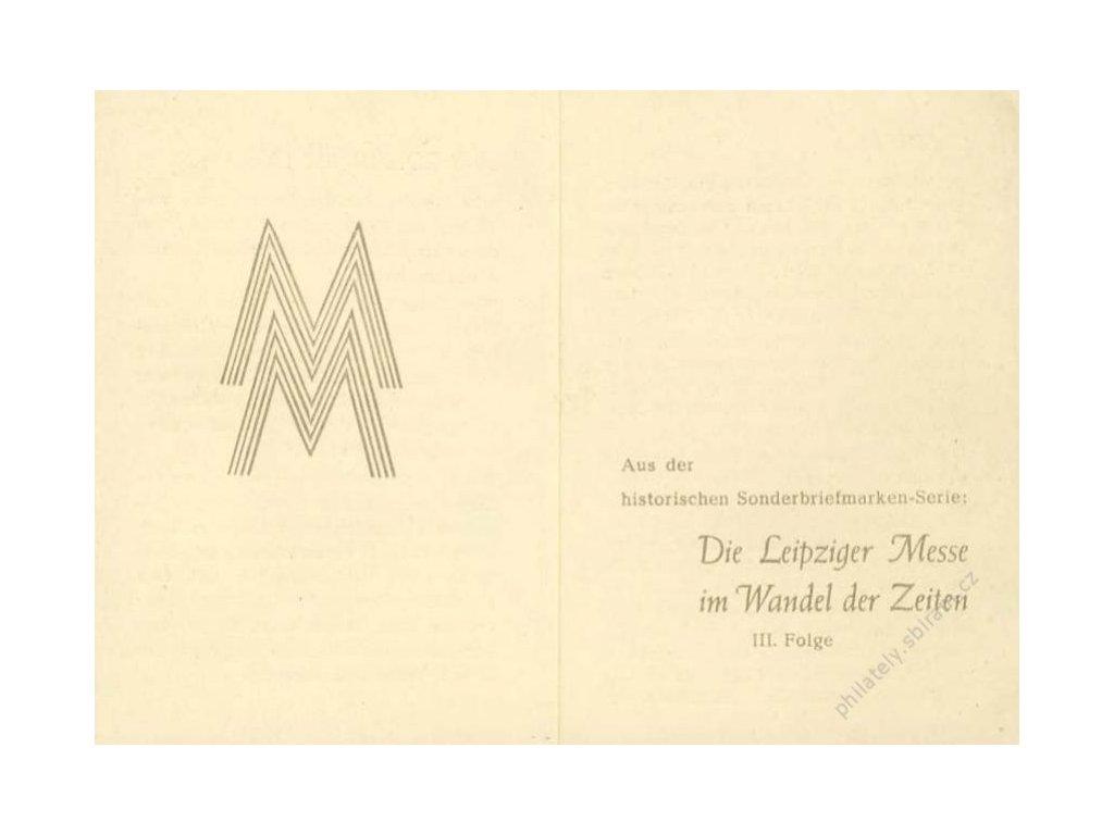 Společné vydání, 1948, Lipský veletrh III., MiNr.967-8, FDC, pamětní 2list