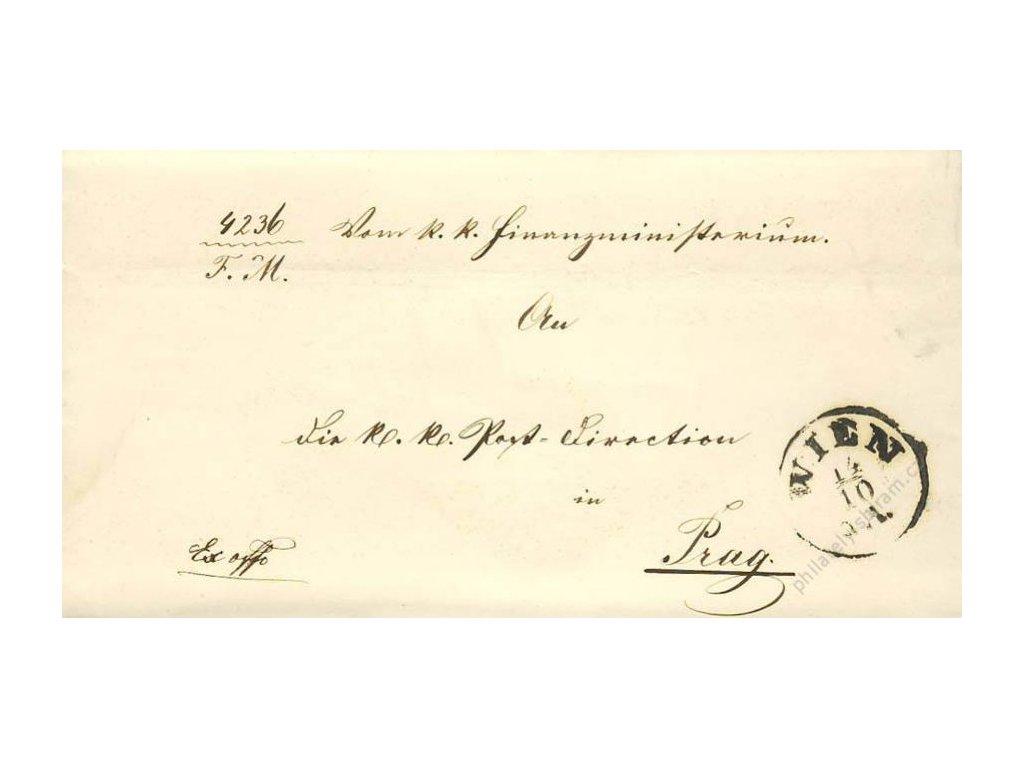 Wien, skládaný dopis z roku 1861