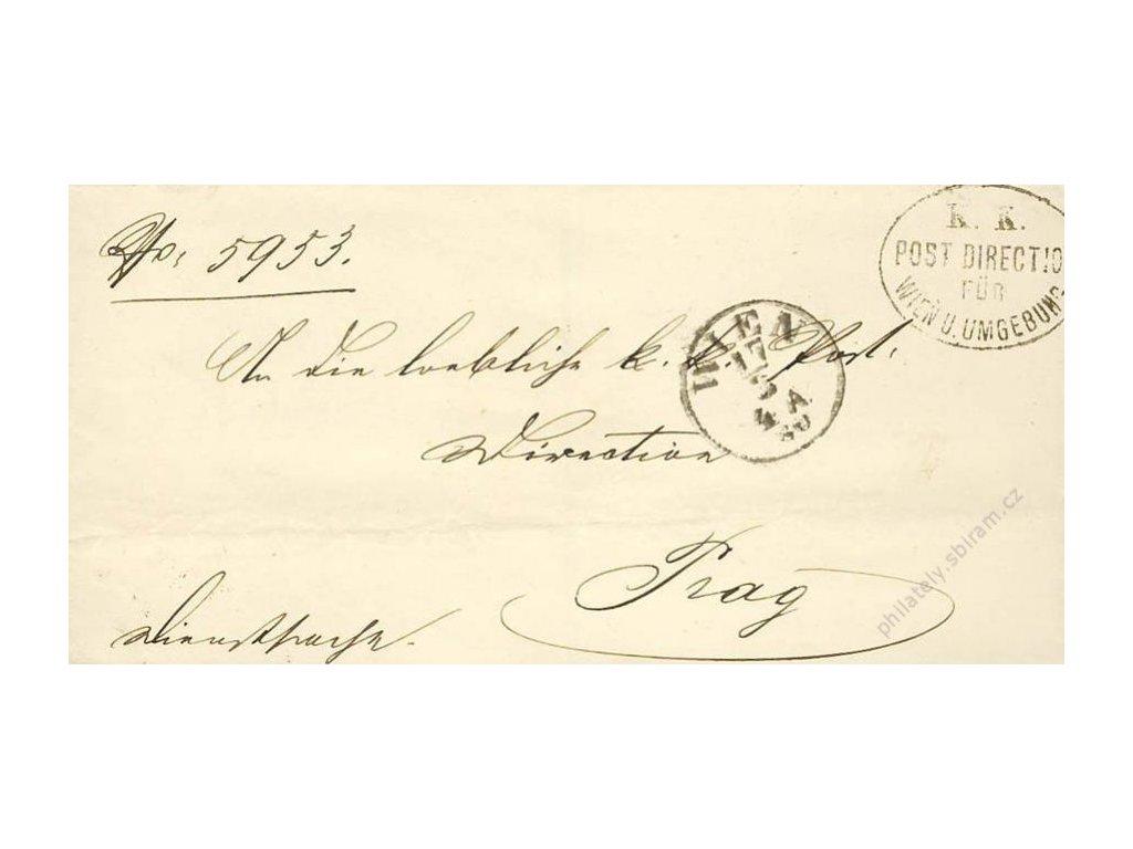 Wien, razítko K.K.Post direction, dopis z roku 1880