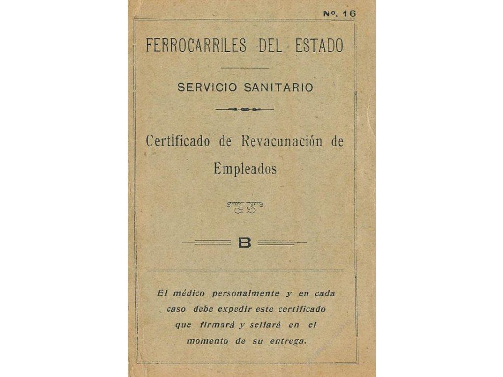 Certificado de Revacunación de Empleados, průkazka