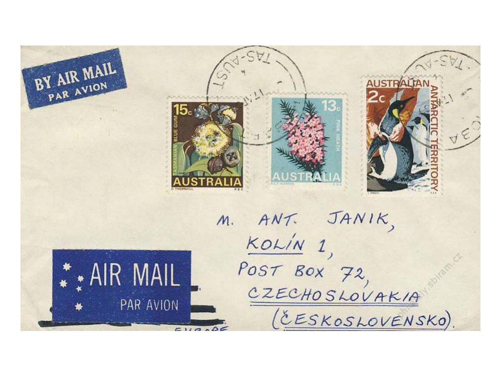 Austrálie, DR Hobart, 1960, let. dopis