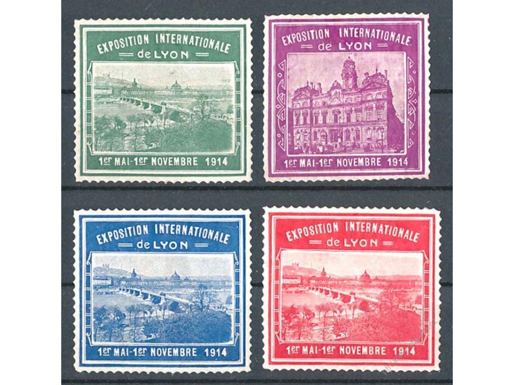 Výstava Lyon 1914, série, těžší *