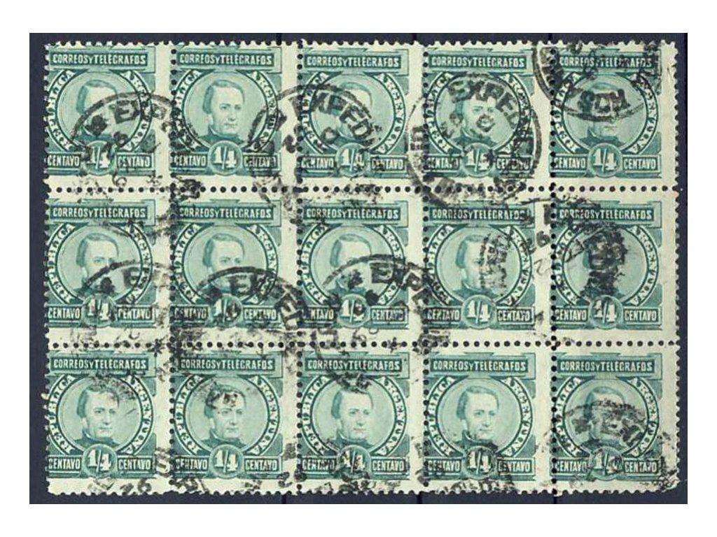 Argentina, 1890, 1/4C Paz, 15blok, Nr.76, razítko
