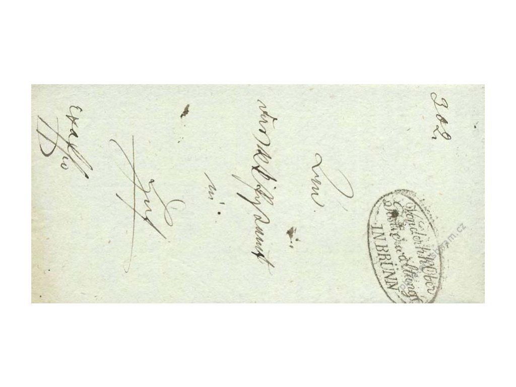 Postwerwaltungl IN BRUNN, skládaný dopis