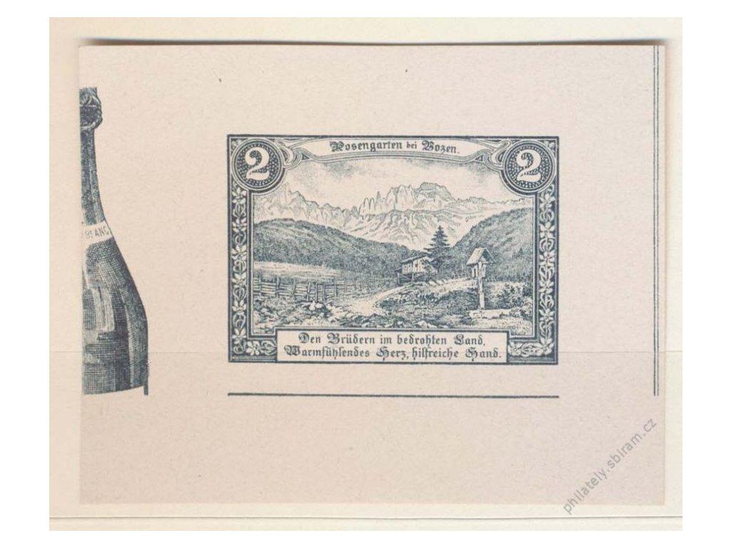 Rosengarten in Bozen, 2h šedočerná, 1905, ZT, (*)