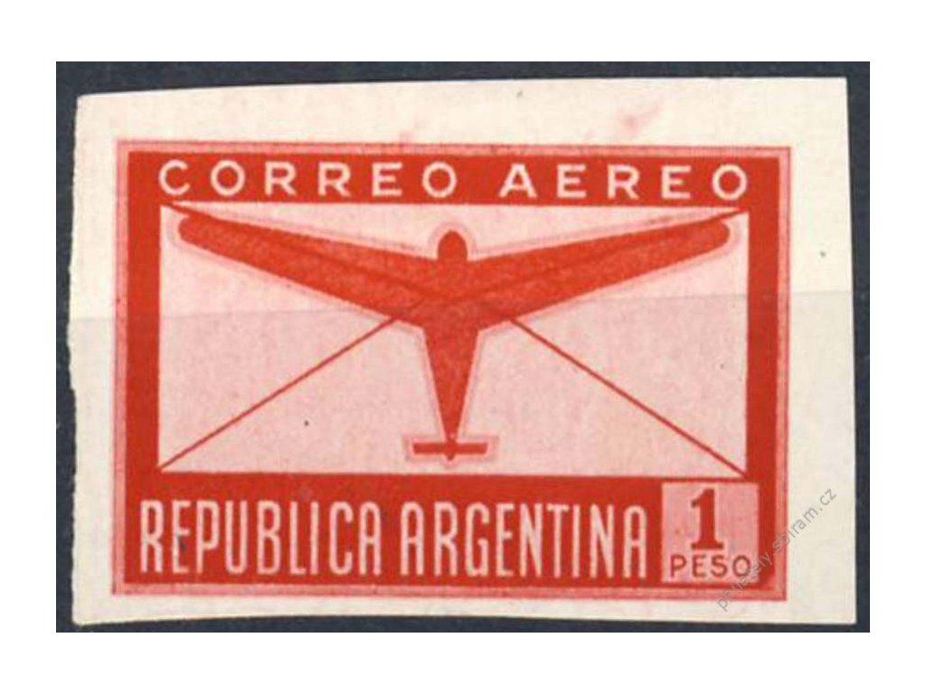 Argentina, 1940, 1P letecká, MiNr.458U, (*) , ZT