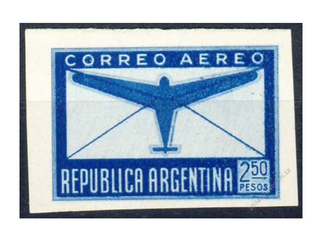 Argentina, 1940, 2.50P letecká, MiNr.460U, (*)