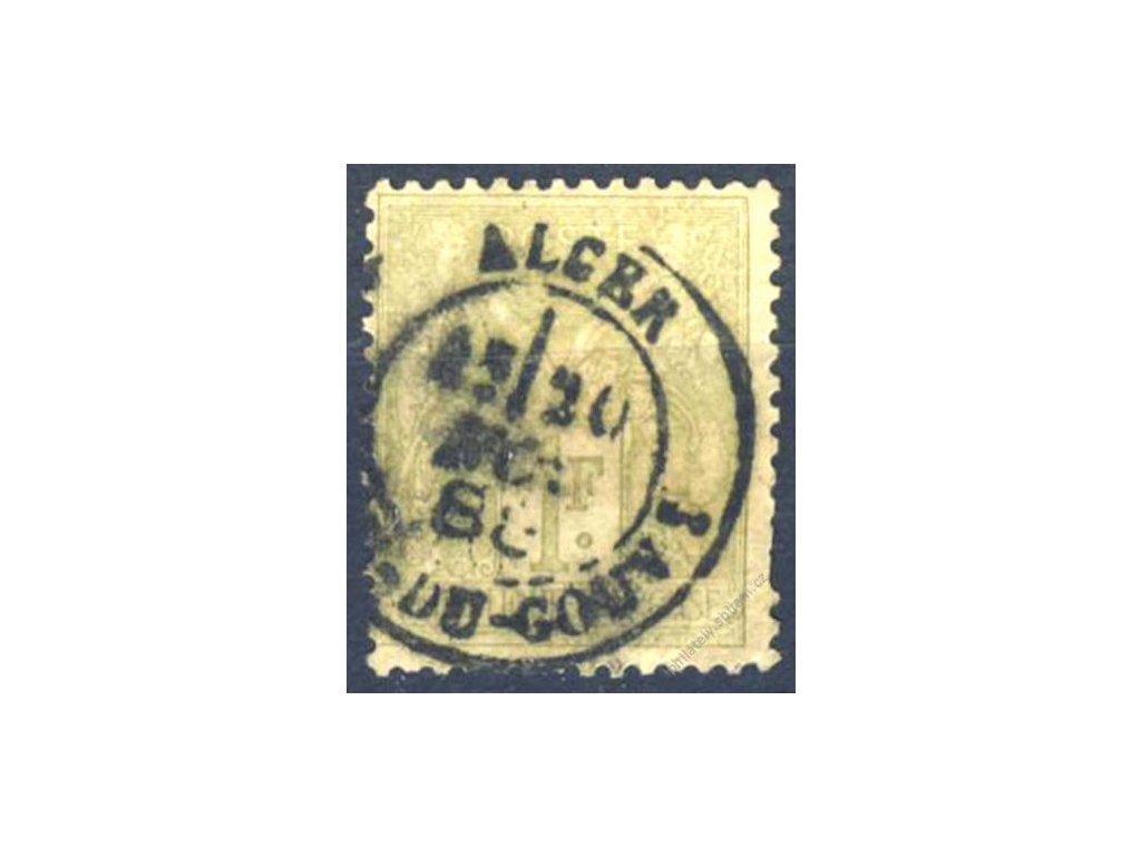 Alžír, 1888, 1Fr Alegorie, DR Alger, souběžná