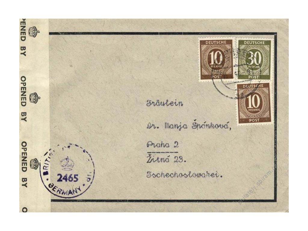 Společné vydání, 1946, DR Essen, dopis, cenzura
