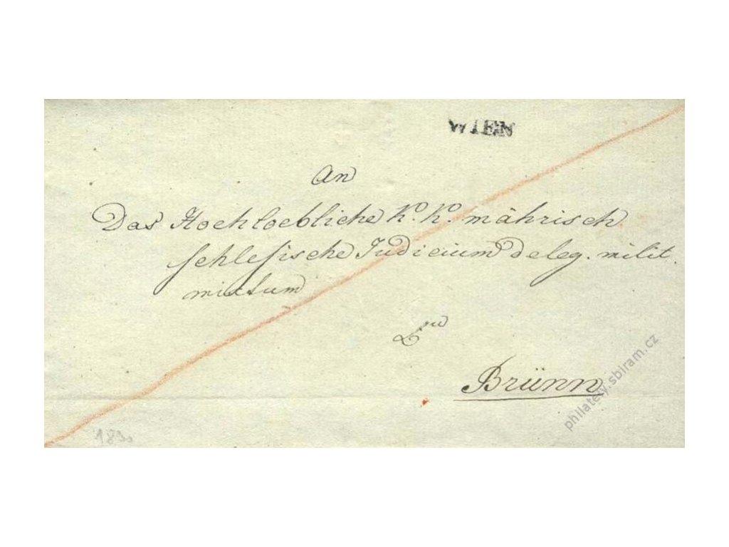 Wien, skládaný dopis z roku 1830