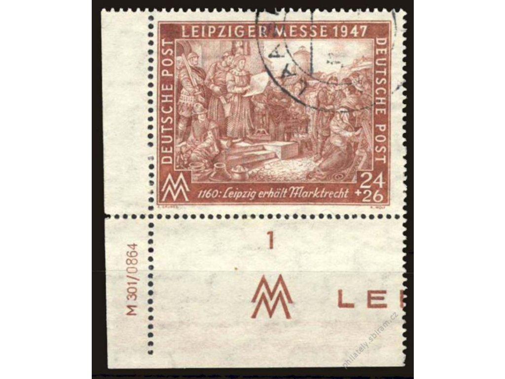 Společné vydání, 1947, 24Pf hnědá, razítkované