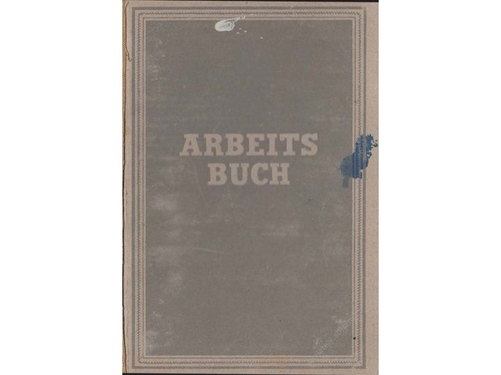 Arbeitsbuch, průkaz z roku 1948
