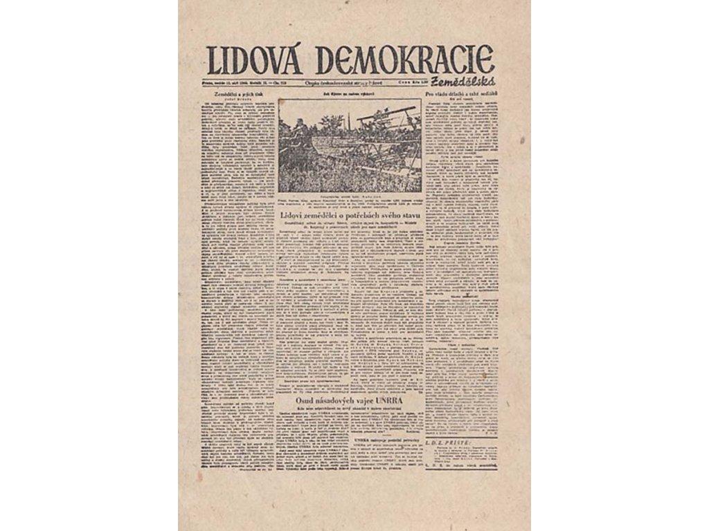 Lidová Demokracie, miniaturní noviny - reklamní leták