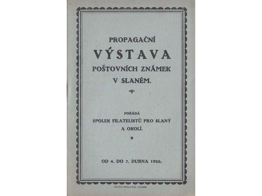 Propagační výstava poštovních známek ve Slaném 1926