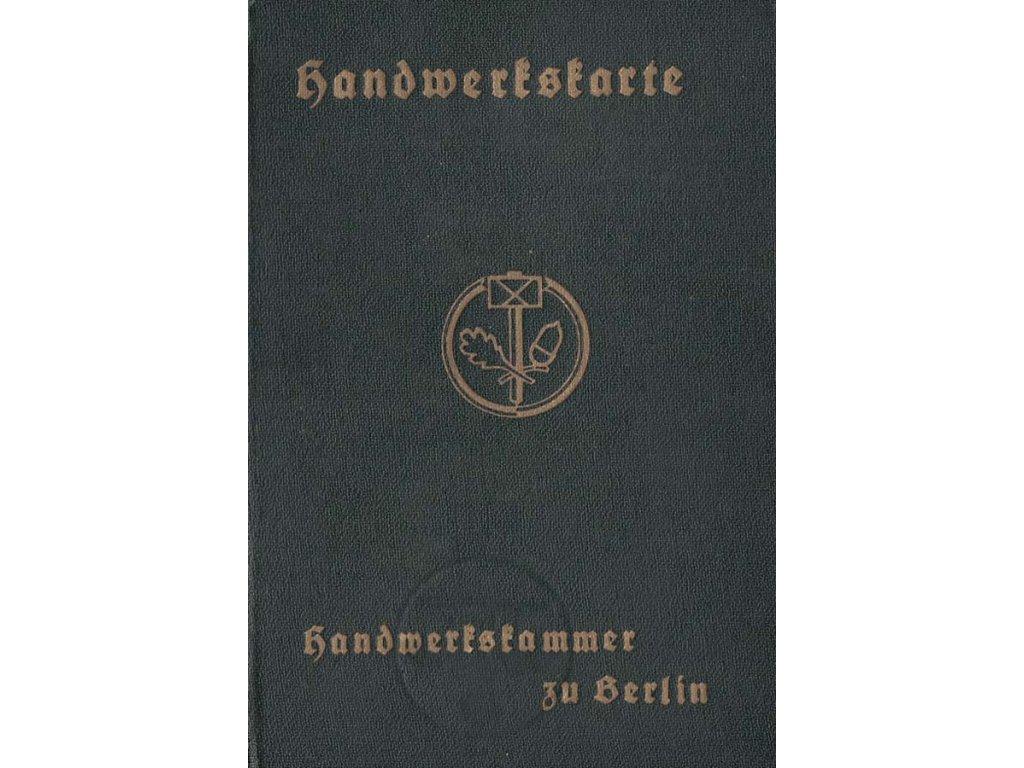 Handwerkskarte z roku 1937, kompletní
