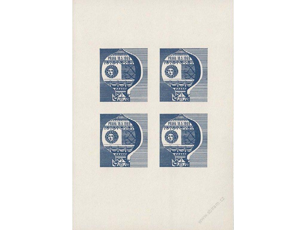 1969, 5Kčs Připouštěcí balonová nálepka, Pof.PL13, **