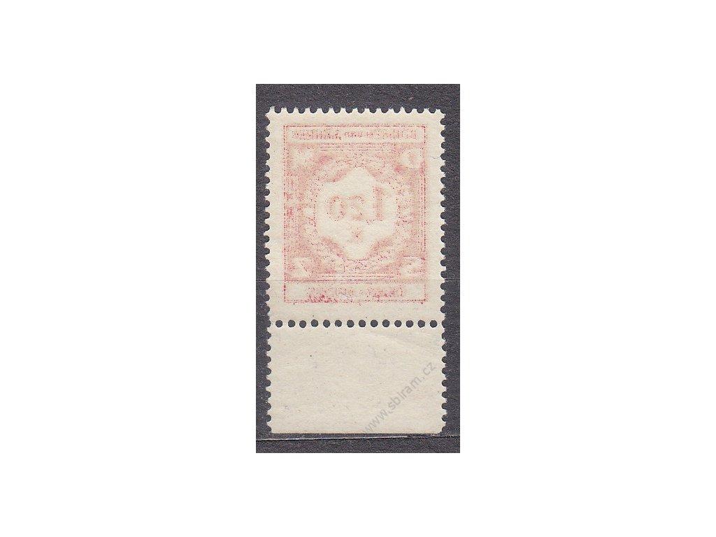 1941, 1.20K červená, kraj. kus, průsvitný papír, Nr.SL7, **