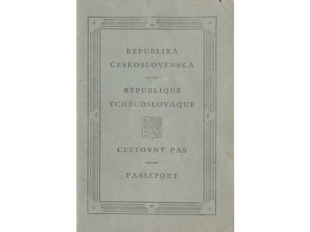 Cestovný pas z roku 1922, kompletní, stopy používání