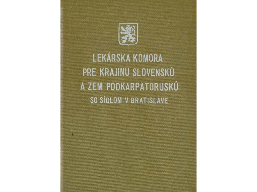 Lekárska komora pre krajinu Slovenskú a Podkarpatoruskú