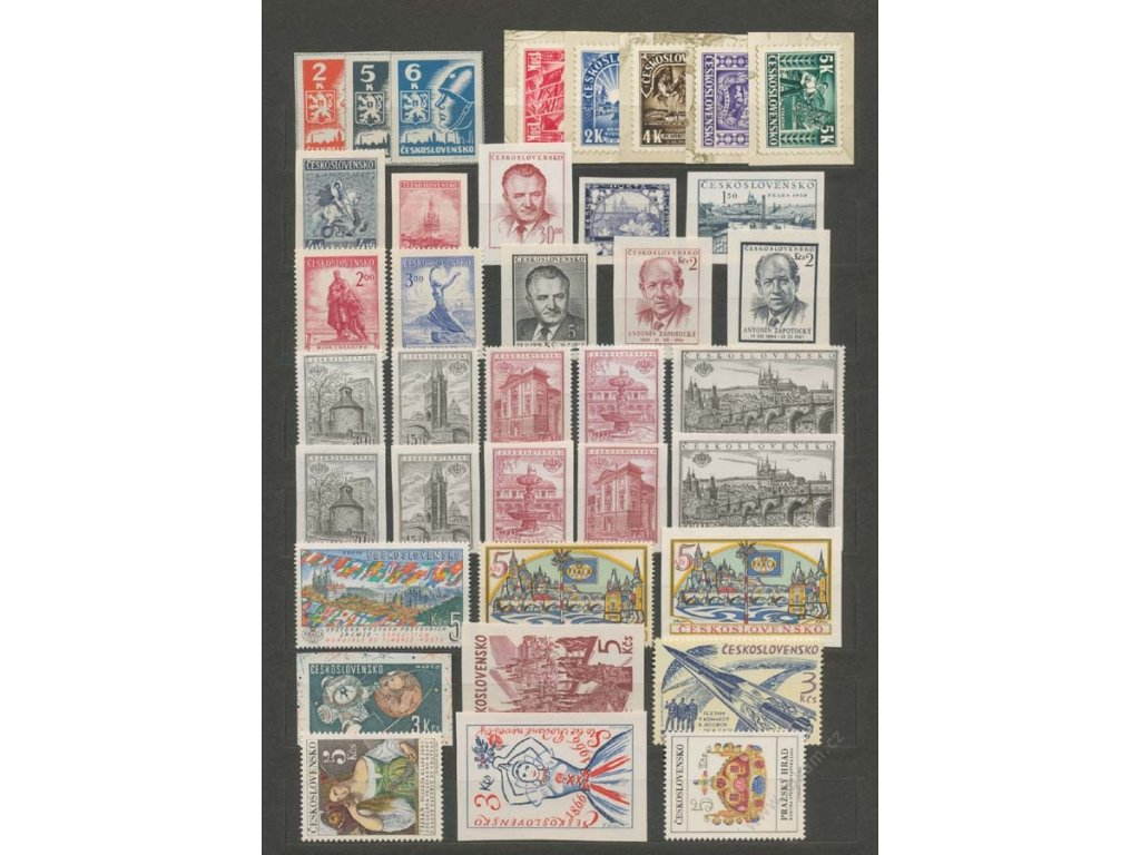 ČSR II., Kompletní sbírka známek z aršíků z let 1945-92, **